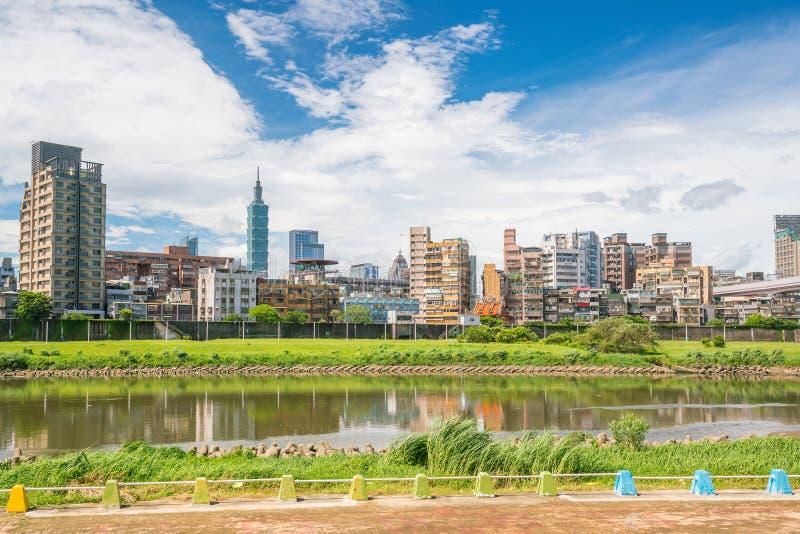台北市地平线在台湾 库存照片