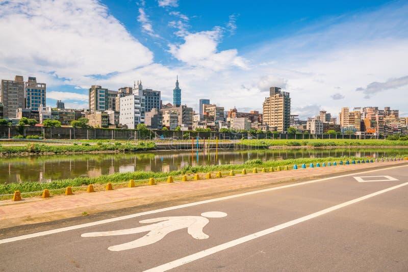 台北市地平线在台湾 库存图片