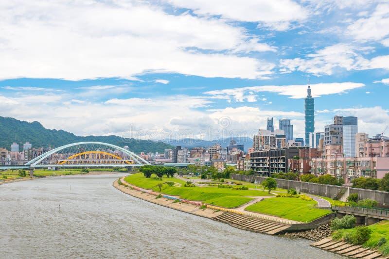 台北市地平线在台湾 免版税库存照片