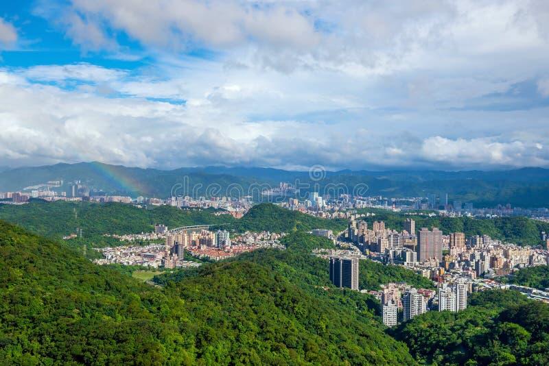 台北市地平线在台湾 免版税图库摄影