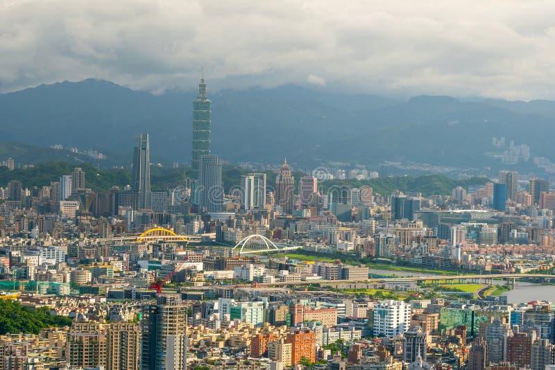 台北市地平线在台湾 免版税库存图片