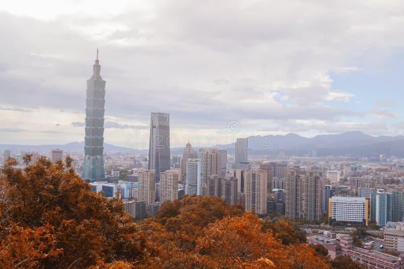 台北市地平线 免版税图库摄影