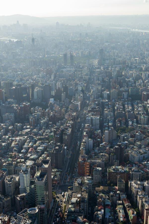 台北概略的看法在白天 免版税库存图片
