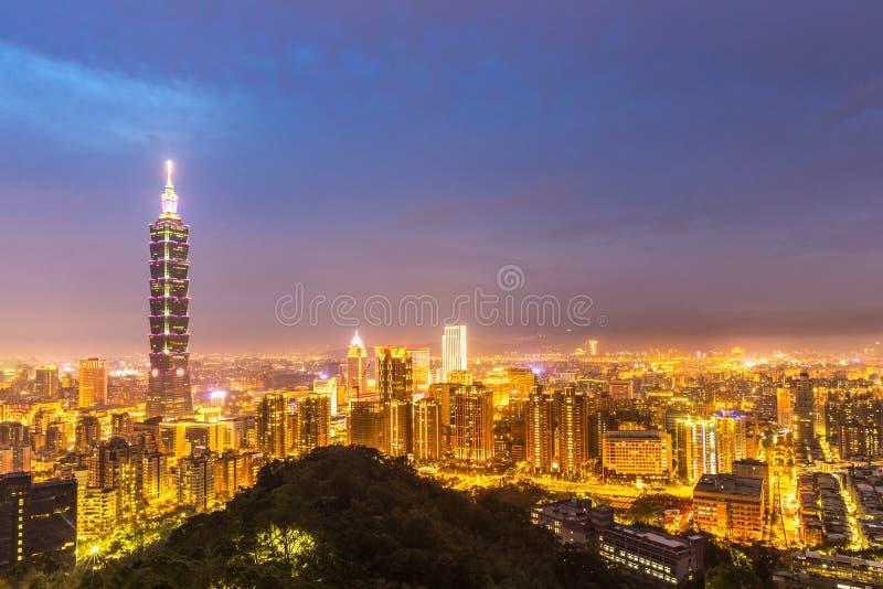 台北,台湾地平线 免版税库存图片