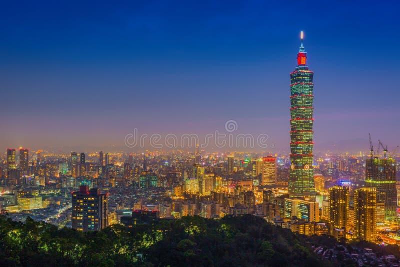 台北,台湾市地平线 免版税图库摄影