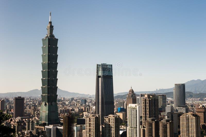 台北101世界贸易中心大厦看法  图库摄影