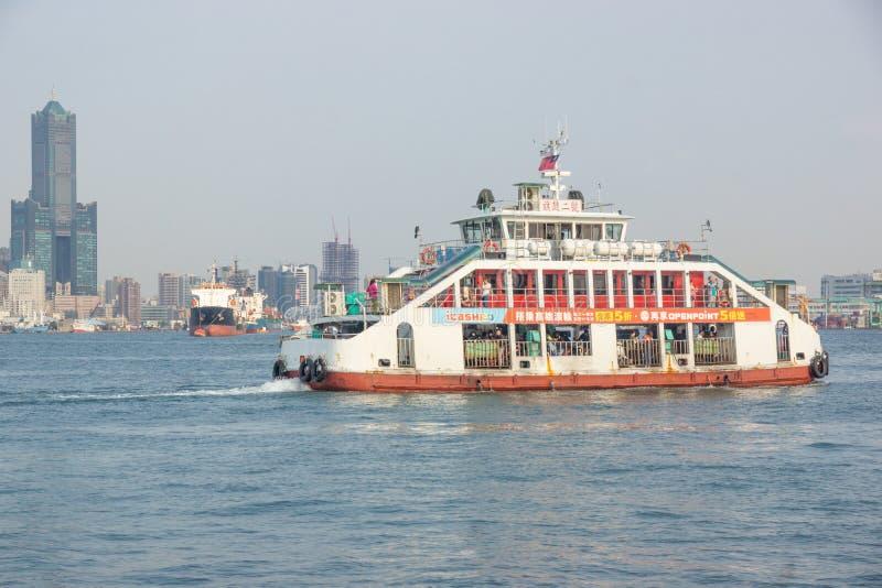 台北/台湾23 03 2018年:台湾小船在港口 免版税库存图片