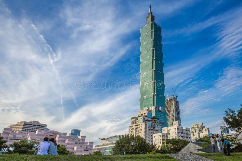 台北101塔,台北,台湾 库存图片