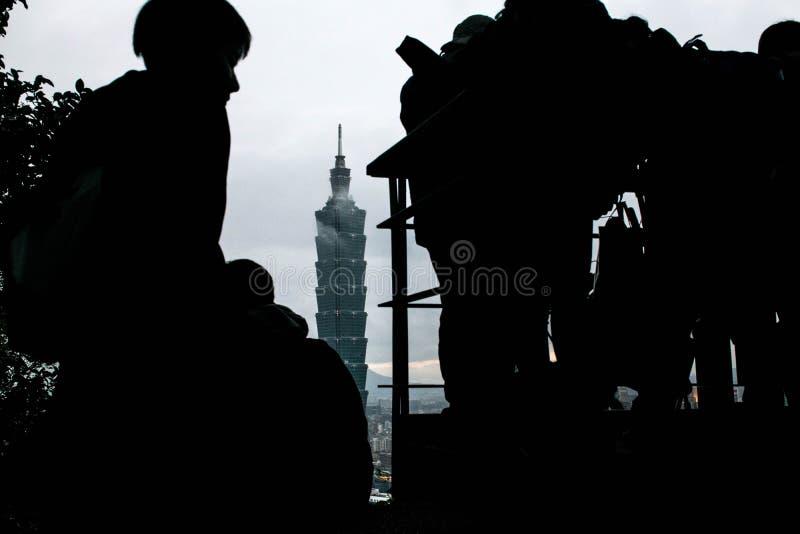 台北101大厦在台湾 库存照片