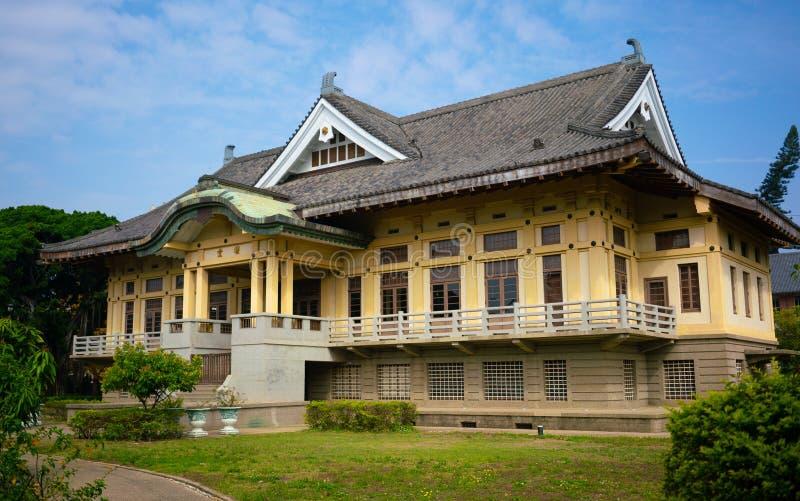 台南butokuden武德霍尔老日本武术学院 免版税库存图片
