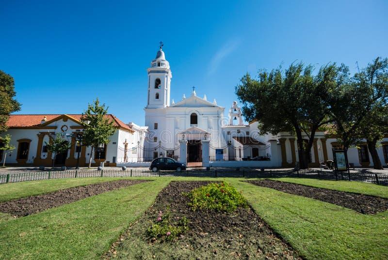 台尔Pilar教会在布宜诺斯艾利斯,阿根廷 图库摄影