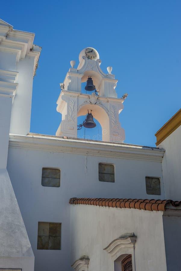 台尔Pilar教会在布宜诺斯艾利斯,阿根廷 库存图片