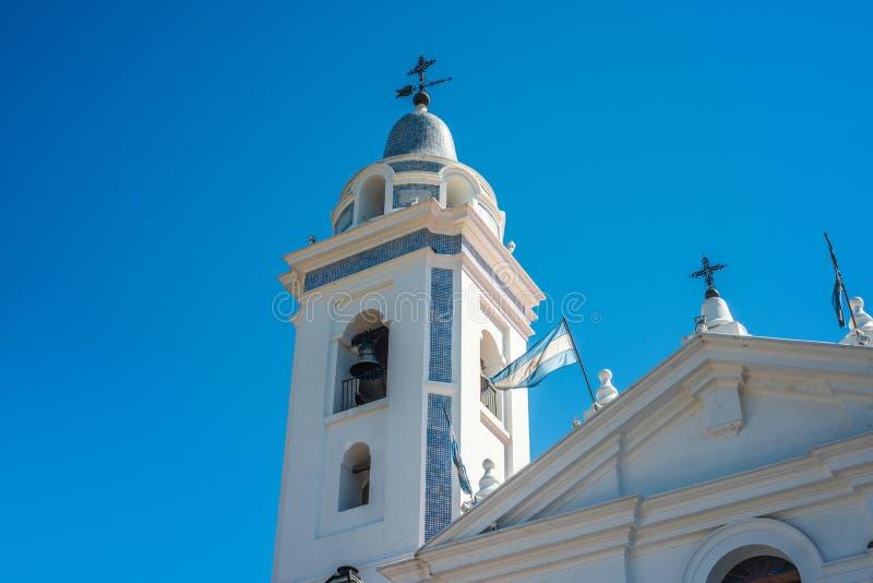 台尔Pilar教会在布宜诺斯艾利斯,阿根廷 库存照片
