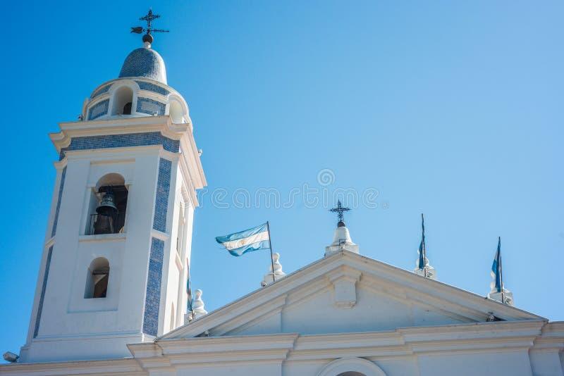 台尔Pilar教会在布宜诺斯艾利斯,阿根廷 免版税库存照片