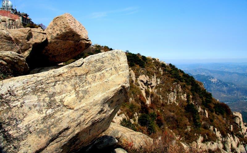 台山山的上面 库存图片