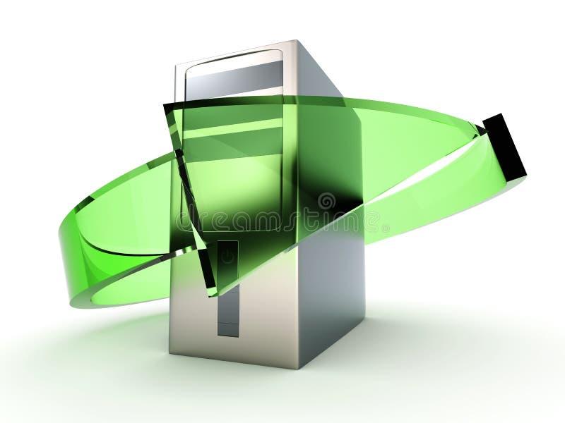 台式计算机回收 库存例证