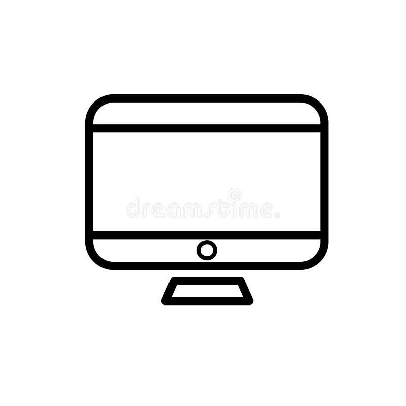 台式计算机象 库存例证