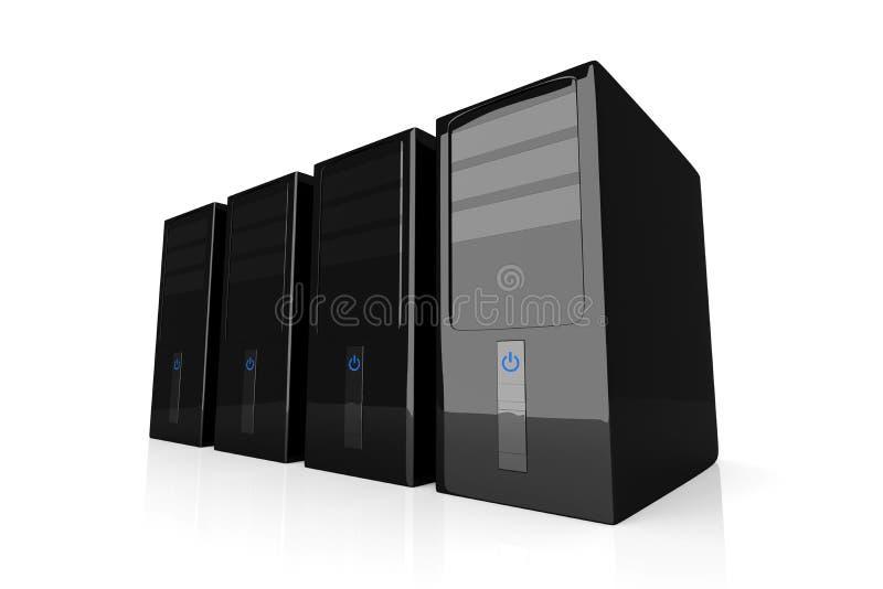 台式计算机 库存例证
