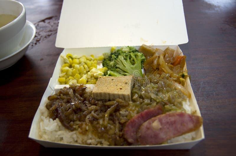 台湾中国快餐箱子 免版税图库摄影