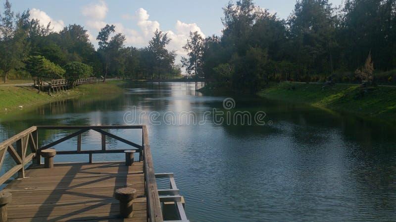 台湾台东美丽和安静的湖 库存照片
