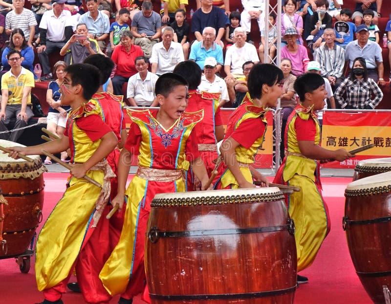 台湾学生打击乐团 免版税库存图片