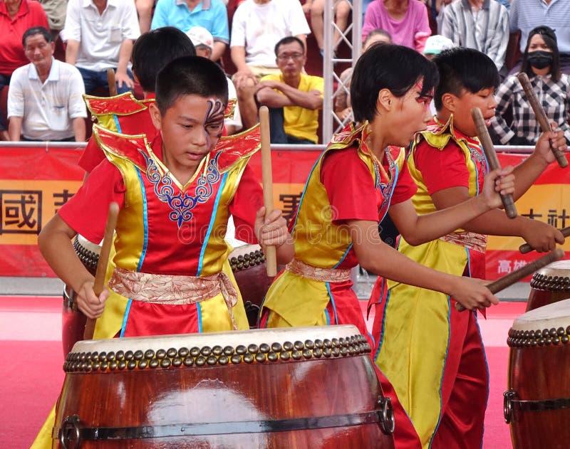 台湾学生打击乐团 免版税库存照片
