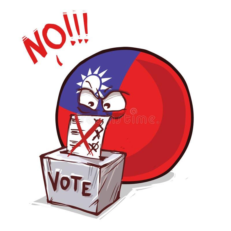 台湾投反对票国家的球 向量例证