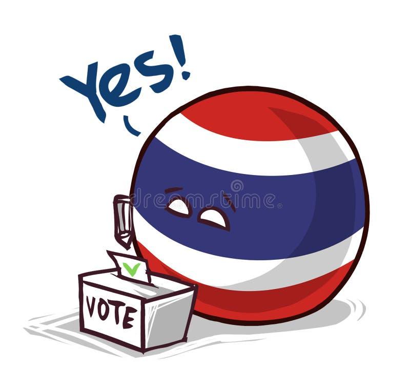 台湾投赞成票国家的球 皇族释放例证