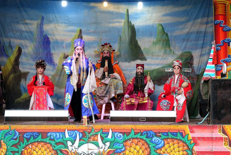 台湾民间歌剧表现 图库摄影
