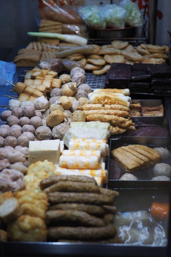 台湾街道食物 煮沸食物 图库摄影