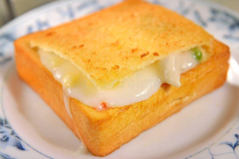 台湾食物(棺材面包) 库存图片