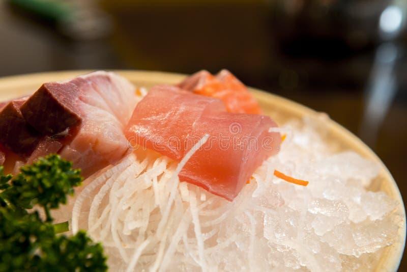 台湾,海鲜餐馆,日本烹调,生鱼片, 免版税库存照片