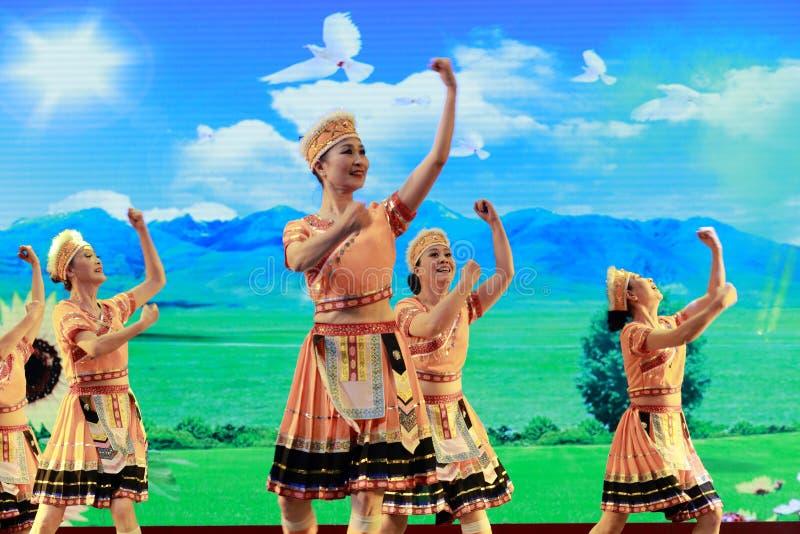 台湾gaoshan国籍舞蹈家 免版税库存照片