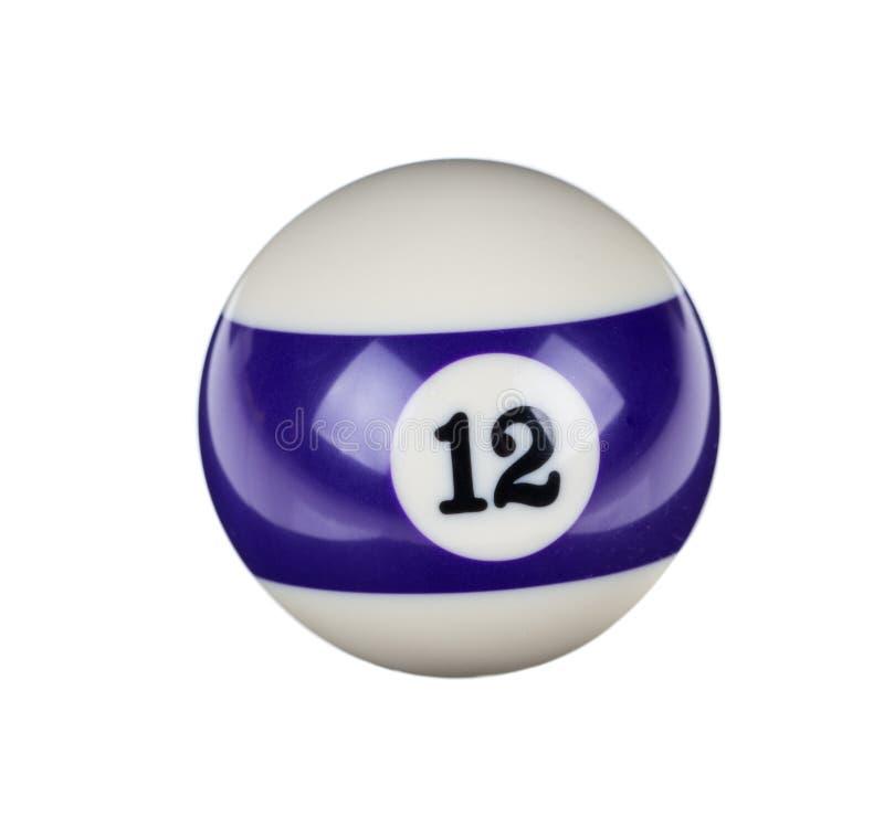 台球的发光的球 免版税库存照片