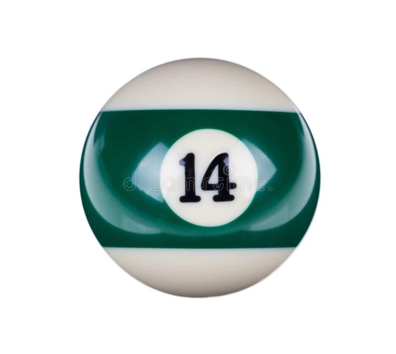 台球的发光的球 免版税库存图片