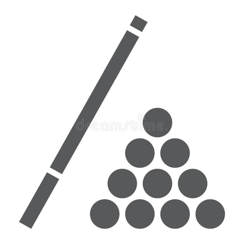 台球纵的沟纹象、比赛和体育,水池标志 库存例证