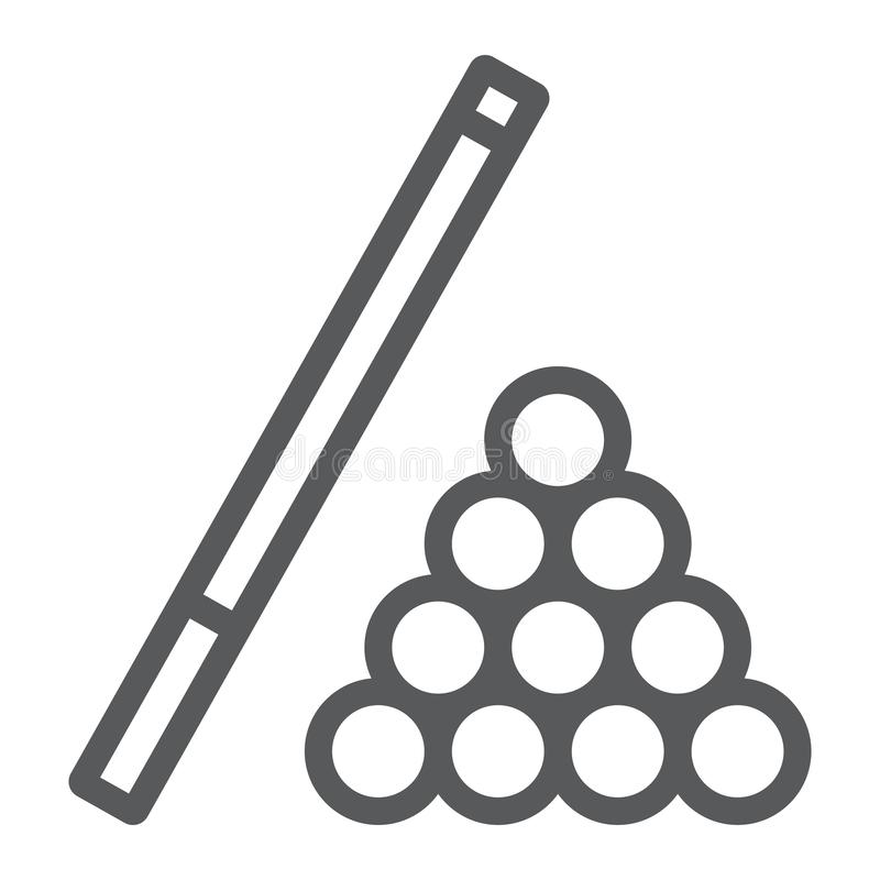 台球线象,比赛和体育,水池标志 库存例证