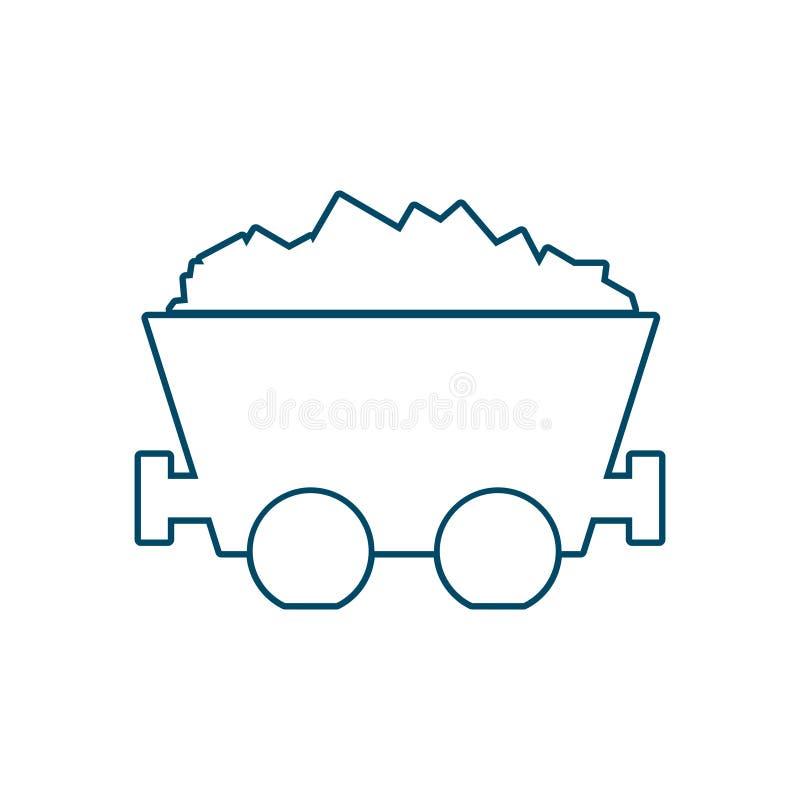台车矿无盖货车 向量例证