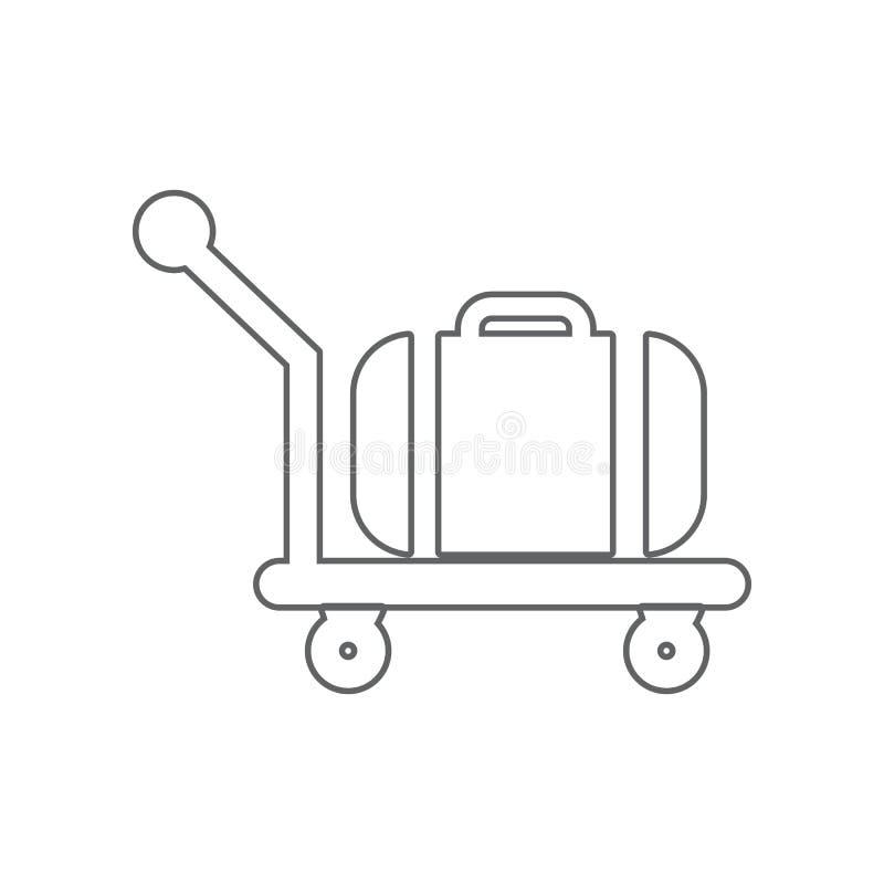 台车行李象 机场的元素流动概念和网应用程序象的 r 库存例证