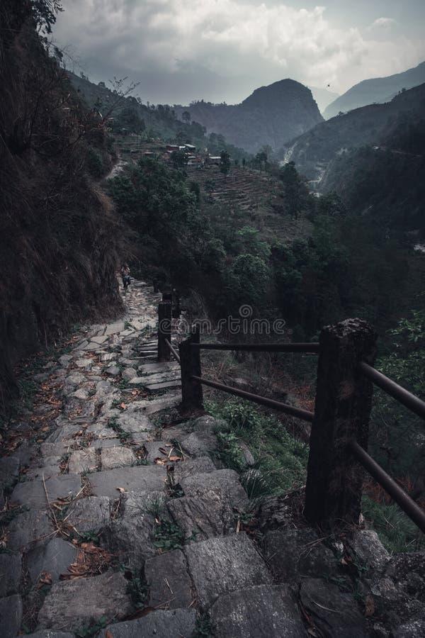 台阶到山里 图库摄影
