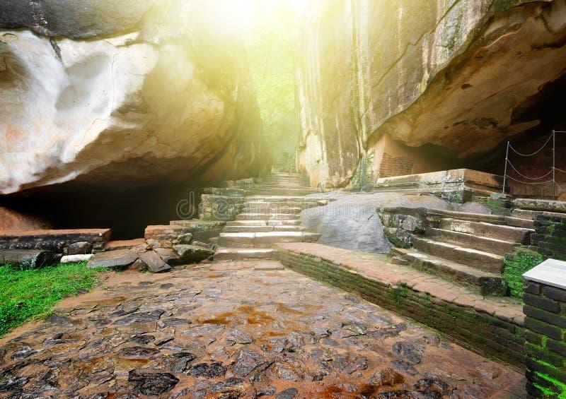 台阶和岩石 图库摄影