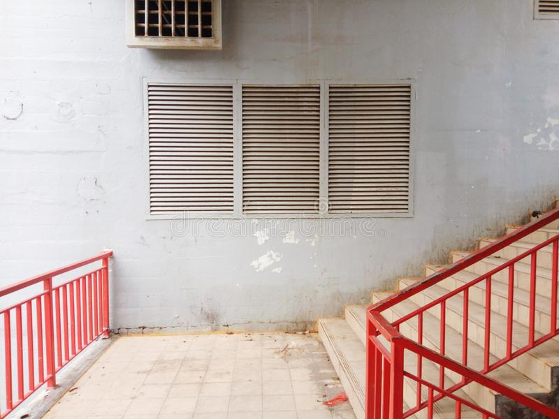 台阶和窗口 免版税库存图片