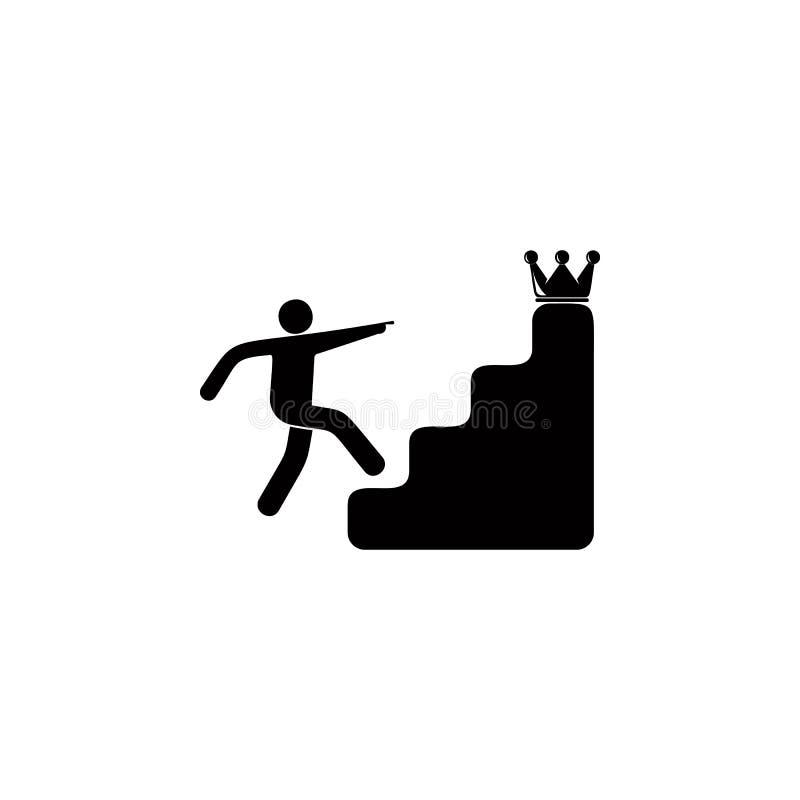 台阶的人在冠象后 流动概念和网apps的奖牌的元素和奖 网站的稀薄的线象 皇族释放例证