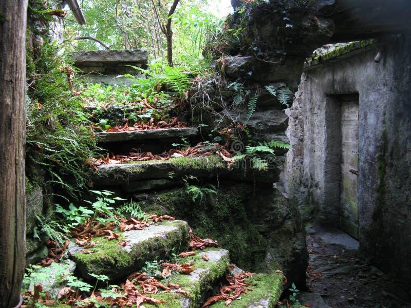 台阶石头 免版税库存图片