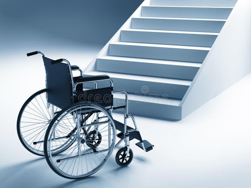 台阶轮椅 皇族释放例证