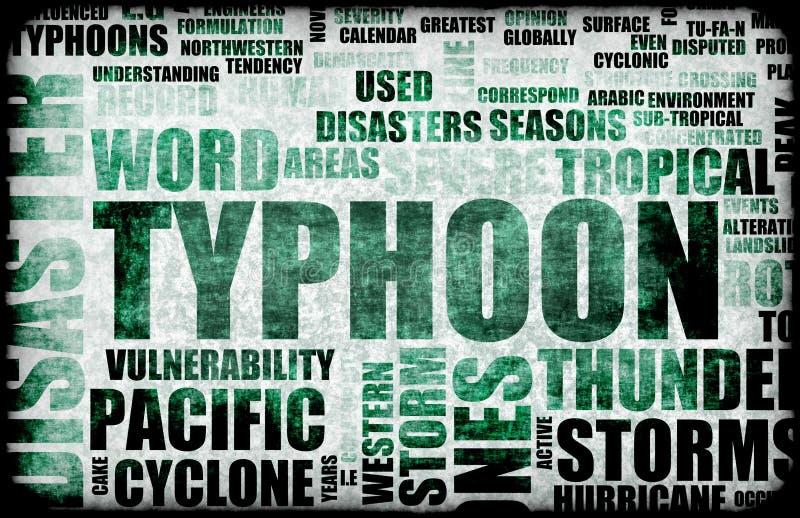 台风 向量例证