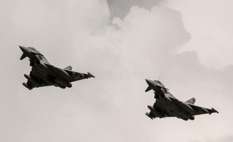 台风Eurofighter喷气机 库存图片