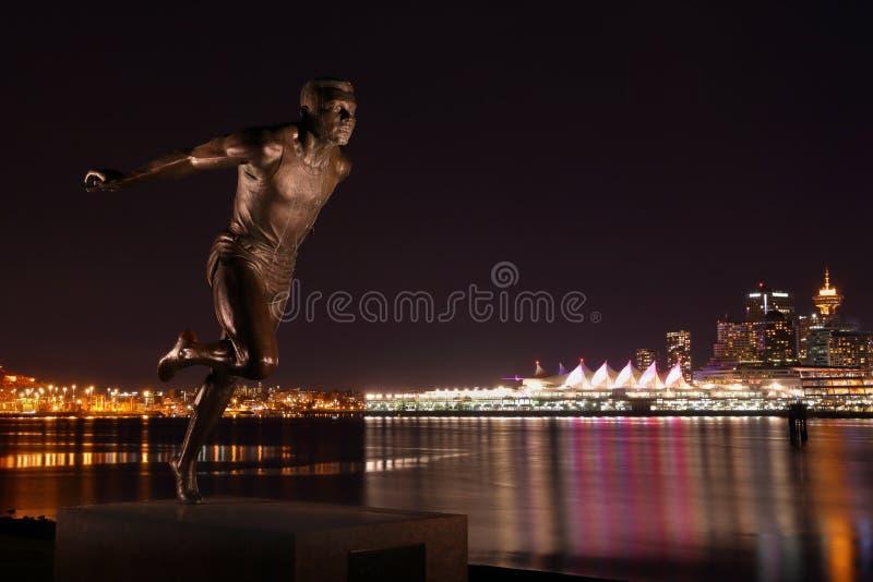 史丹利公园赛跑者雕象 库存图片