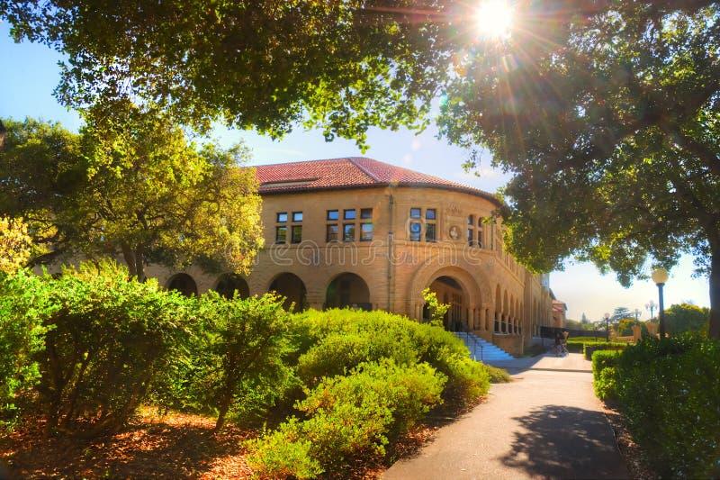 史丹福大学校园在帕洛阿尔托,加利福尼亚 免版税图库摄影