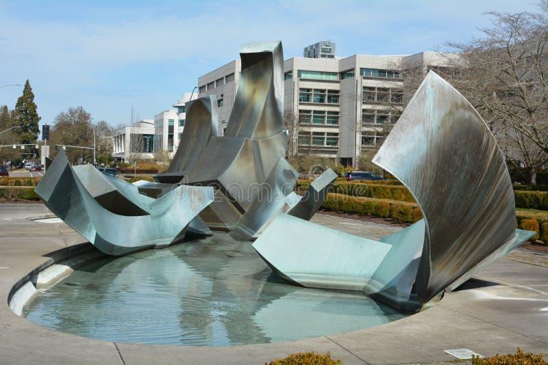史伯格喷泉在萨利姆,俄勒冈图象3 免版税库存图片